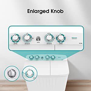 enlarged knob