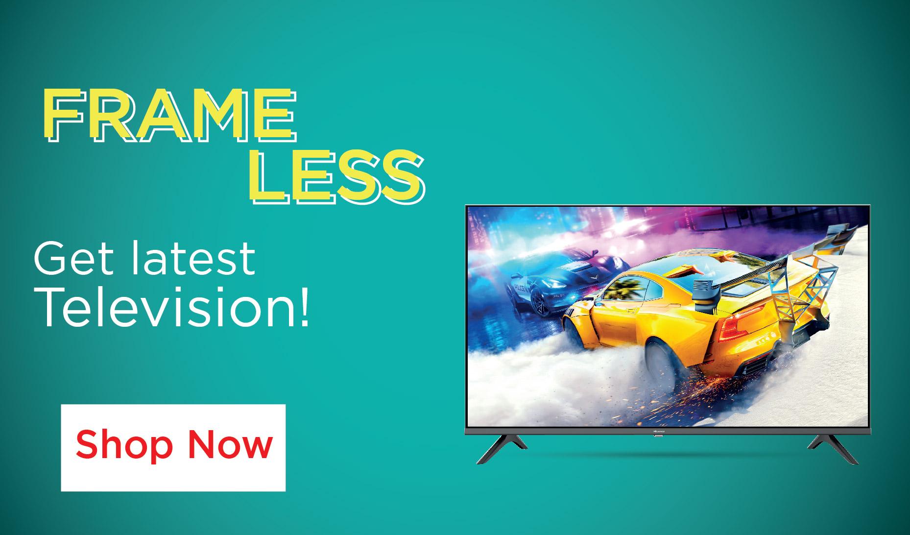 Hisense frameless tv