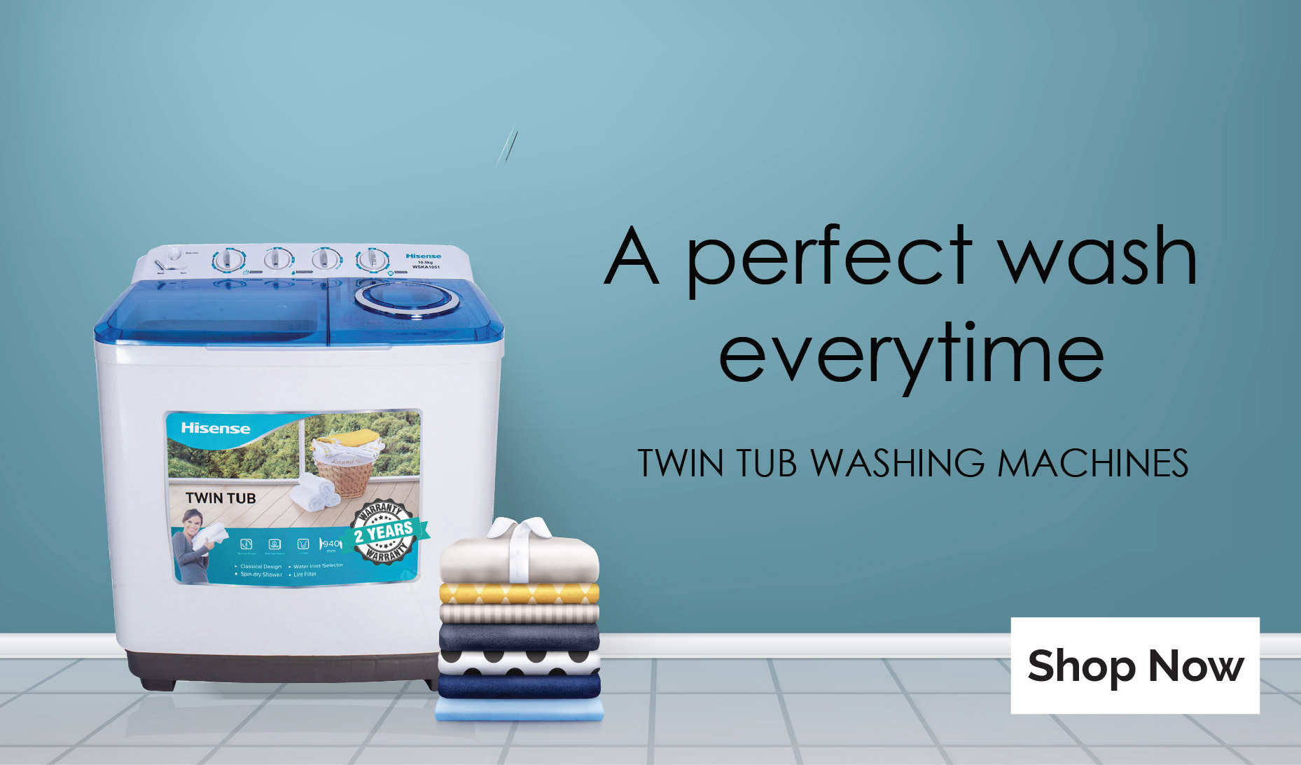 Hisense twin tub